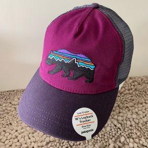 Patagonia women fitz Roy bear  layback trucker hat